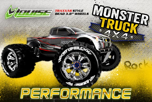 UPHILL MONSTER TIRES SET 1/8 (CHROME)