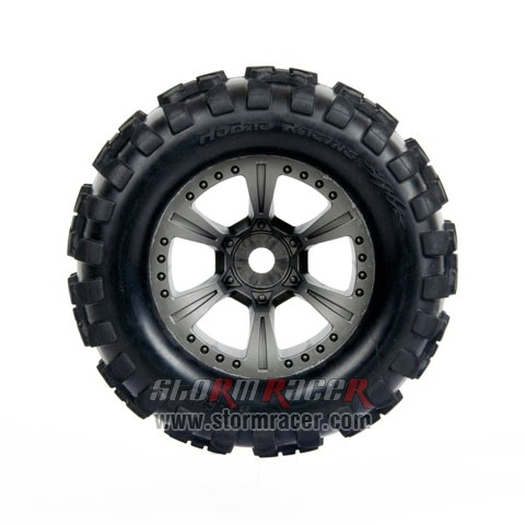 HoBao MT Truck 1/8 Tires Set BT-503 006