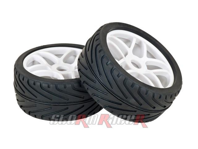 Hongnor 1/8 Radial Tires Set BT-110 (2P) on road
