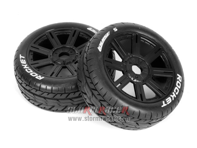 Louise B-Rocket 1/8 Buggy Tires Black (2P) 001