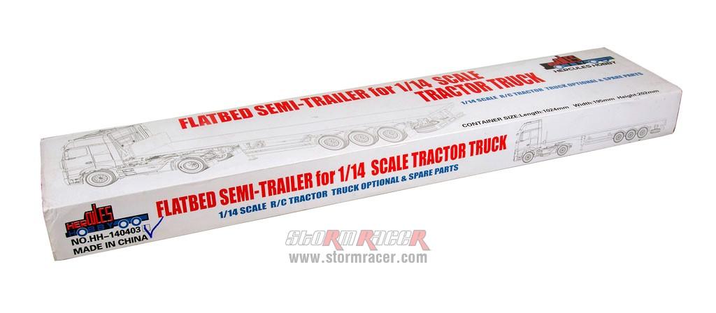 Hercules Hobby 3 Axial Flatbed Semi Trailer (Box) #HH-140403A 001
