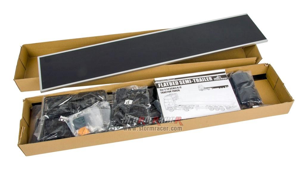 Hercules Hobby 3 Axial Flatbed Semi Trailer (Box) #HH-140403A 002