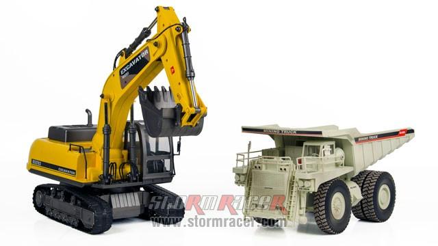 Combo Excavator + Mining Truck 003