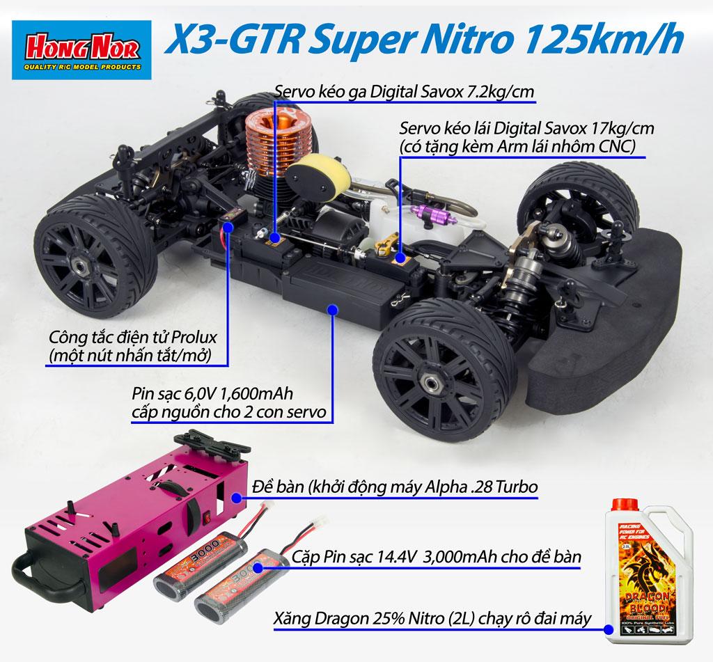 Super GT Nitro X3-GTR 125 km/h RTR 001